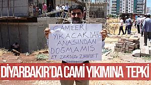 Diyarbakır'da Cami Yıkımına Tepki