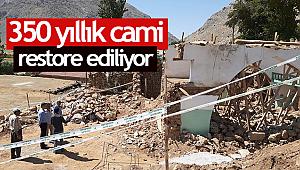 Malatya da 350 yıllık cami restore ediliyor