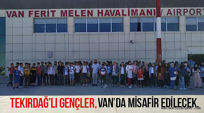 Tekirdağ'lı öğrenciler Van'a ulaştı