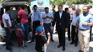 Tosya'da Kursa katılan öğrencilere dondurma ikramı