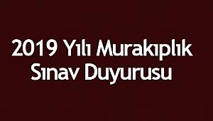 2019 Yılı Murakıplık Sınav Duyurusu