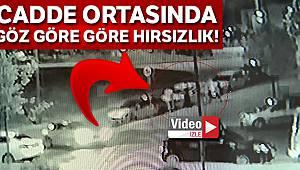 Beylikdüzü'nde hırsızlık şebekesinin araç hırsızlığı kamerada