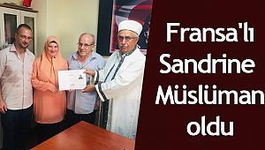 Fransa'lı Sandrine Şarköy'de Müslüman oldu