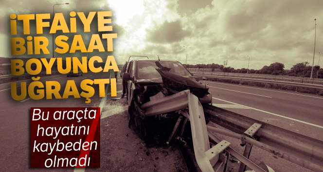 İstanbul Havalimanı yolunda akılalmaz kaza