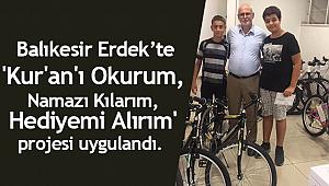 Kur'an kursu öğrencilerine Bisiklet