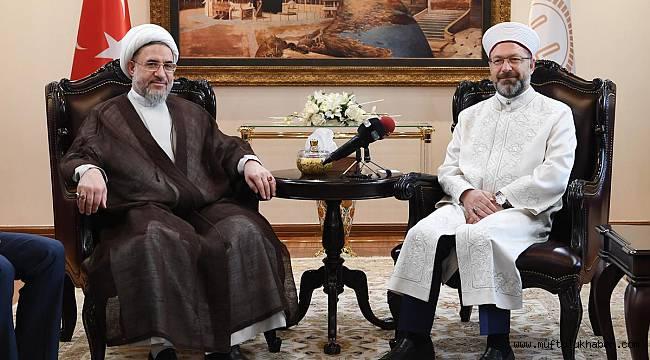 Başkan Erbaş, İranlı heyeti kabul etti