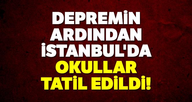 İstanbul'da okulda deprem paniği