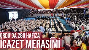 Ordu da 280 Hafıza İcazet Merasimi