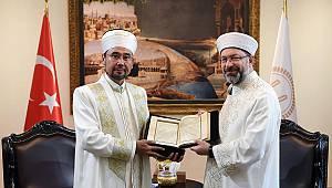 Başkan Erbaş, Kazakistan heyetini kabul etti