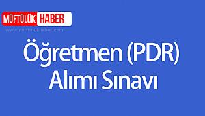 2019 Yılı Öğretmen (PDR) Alımı Sınavı (Revize)
