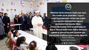 Başkan ERBAŞ dan 24 Kasım Öğretmenler Günü Mesajı