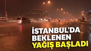 İstanbul'da yağmur etkisini göstermeye başladı