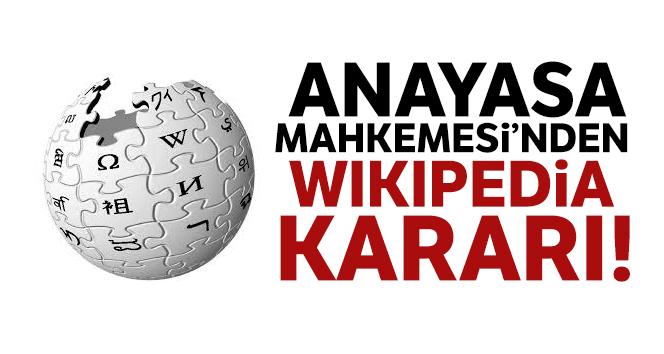 Anayasa Mahkemesi'nden Wikipedia kararı