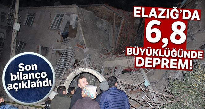 AFAD: 'Elazığ'da meydana gelen depremde 20 kişi hayatını kaybetti, bin 15 kişi ise yaralandı'