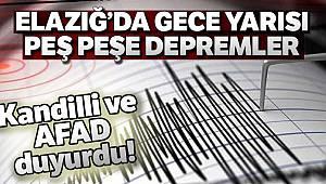 Elazığ'da 4,5 ve 4,2 büyüklüğünde iki deprem daha meydana geldi