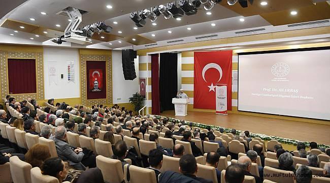 Erbaş, 'İ-H-L Okulları Vizyon Semineri'nde konuştu