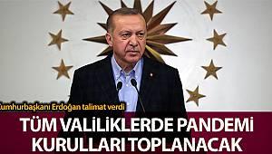 Cumhurbaşkanı Erdoğan talimat verdi, tüm valiliklerde pandemi kurulları toplantı yapılacak