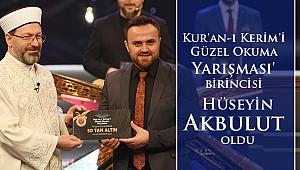 Kur'an-ı Kerim'i Güzel Okuma Yarışması'nın Birincisi Belli oldu