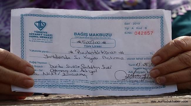 Su kuyusu için 3 aylık maaşını bağışladı