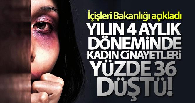'Türkiye'de yılın 4 aylık döneminde geçen yıla göre kadın cinayetleri yüzde 36 oranında düştü'