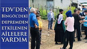 Bingöl'deki depremzedelere gıda desteği
