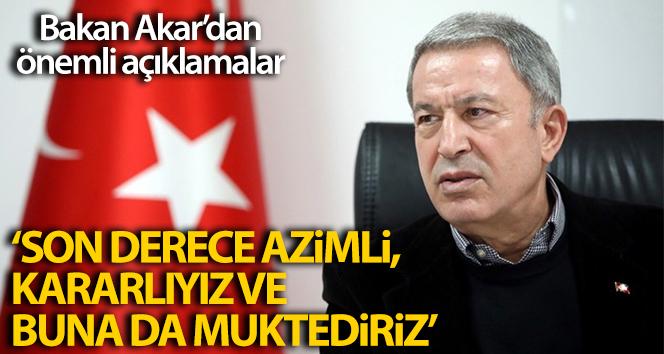 Milli Savunma Bakanı Hulusi Akar'dan önemli Ege ve Doğu Akdeniz açıklamaları