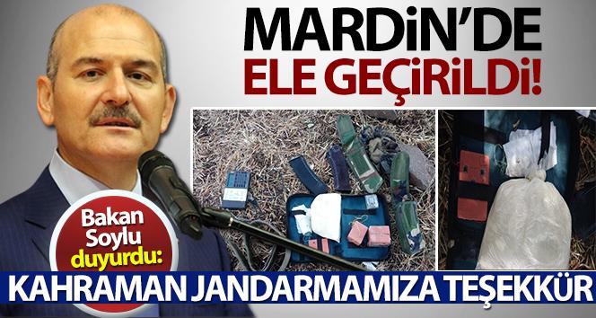 Bakan Soylu duyurdu: Mardin'de büyükşehirlere gönderilmek üzere patlayıcı madde ele geçirildi