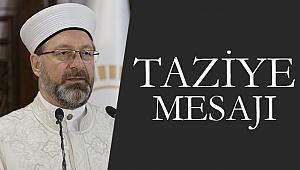 Başkan Ali ERBAŞ dan Taziye Mesajı