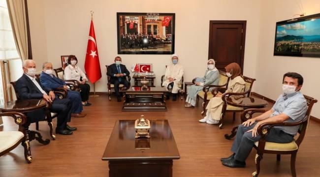 Başkan Erbaş, Vali Sonel'i ziyaret etti