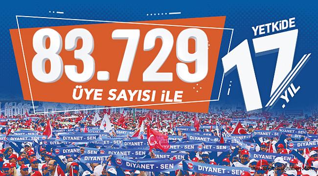 Diyanet-Sen 83.729 üyesi ile Zirvede