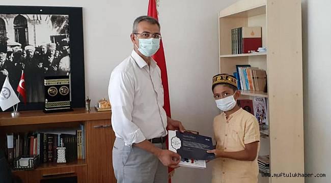 Kahta'da çocuklar ödüllendirildi