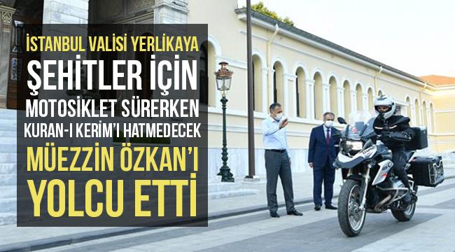 Vali Yerlikaya,Müezzin Özkan'ı Yolcu Etti
