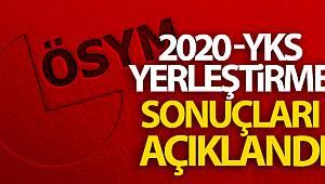 2020-YKS yerleştirme sonuçlarını açıkladı