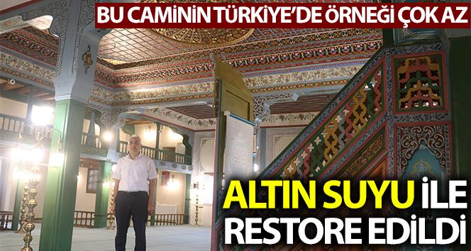 Altın suyu kullanılarak restore edildi, Türkiye'de örneği az