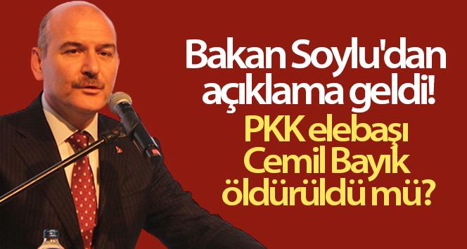 Bakan Soylu'dan açıklama geldi! PKK elebaşı Cemil Bayık öldürüldü mü?