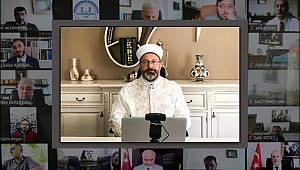 Erbaş, il müftüleriyle online istişare toplantısı yaptı.
