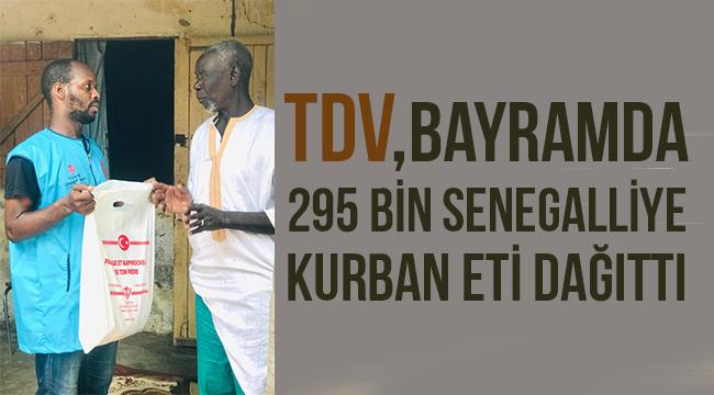 TDV, 295 bin Senegalliye kurban eti dağıttı