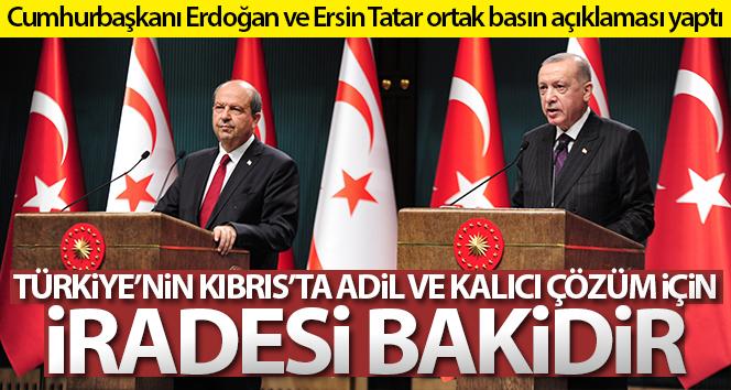 Cumhurbaşkanı Erdoğan: 'Türkiye'nin Kıbrıs'ta adil ve kalıcı çözüm için iradesi bakidir'