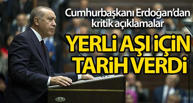 Cumhurbaşkanı Erdoğan:'Kendi aşımızı en geç Nisan ayında uygulamayı planlıyoruz'