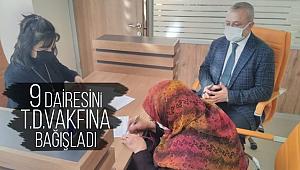 9 dairesini Türkiye Diyanet Vakfına bağışladı