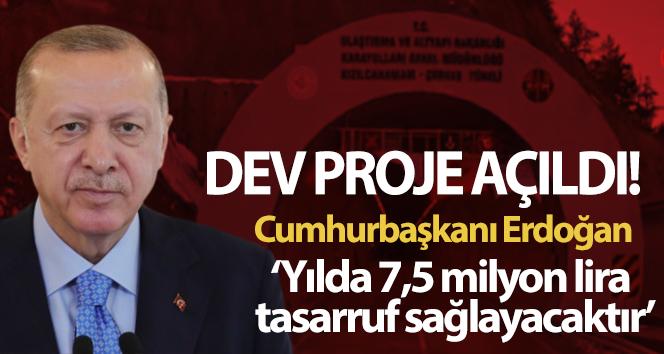 Cumhurbaşkanı Erdoğan'dan Kızılcahamam-Çerkeş Tüneli açılış töreninde flaş açıklamalar