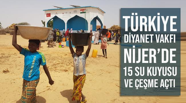 Türkiye Diyanet Vakfından Nijer'de 15 su kuyusu açtı.