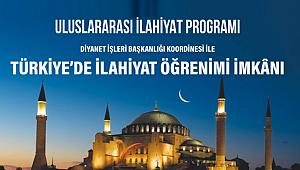 2021 Uluslararası İlahiyat Programı Başvuruları başladı