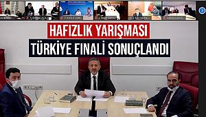 Hafızlık Yarışması'nın Türkiye finali Sonuçlandı.