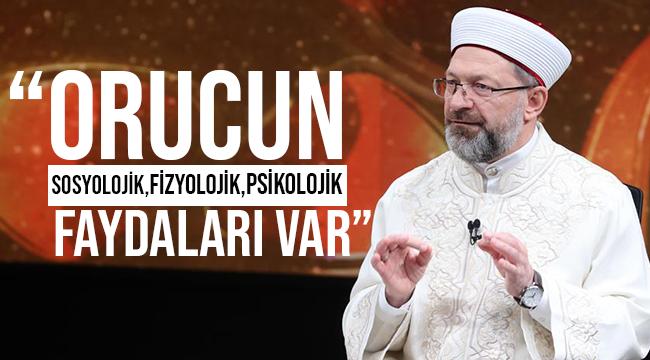 """Başkan Erbaş, VAV TV'de İftar Vakti"""" programına katıldı."""