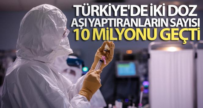 Türkiye'de iki doz Covid-19 aşısı yapılan vatandaş sayısı 10 milyonu geçti!