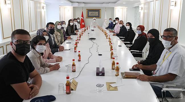 Başkan Erbaş, Batman Üniversitesi öğrencilerini kabul etti