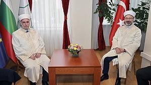 Erbaş, Bulgaristan Başmüftülüğü'nü ziyaret etti