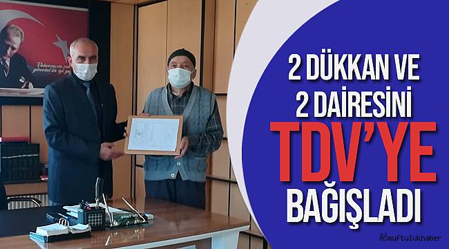 Hayırsever Vatandaştan TDV'ye Bağış