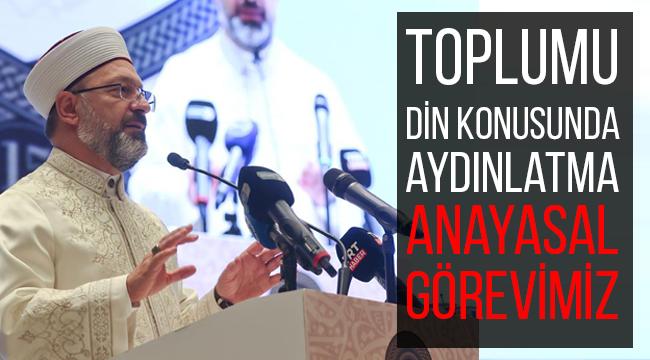 """Başkan Erbaş, Hayat Rehberi Kur'an Konulu Tefsiri"""" tanıttı."""